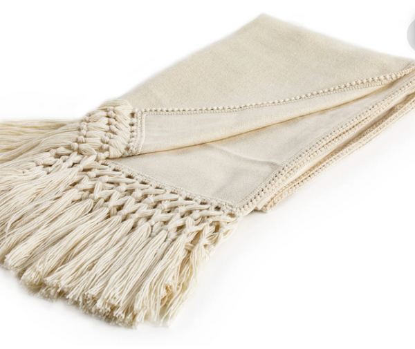 Fibre Baby Alpaca Tassel Throw