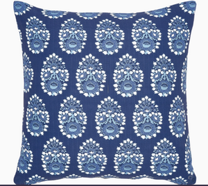 Diwan Indigo Outdoor Pillow