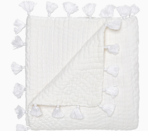 Sahati White Throw