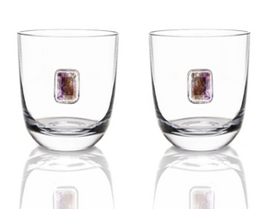 Elevo Double Old Fashioned Glasses (Smoked Agate)