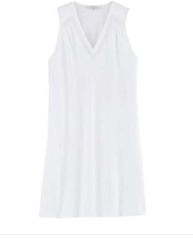 Conte d'été White Sleeveless Gown