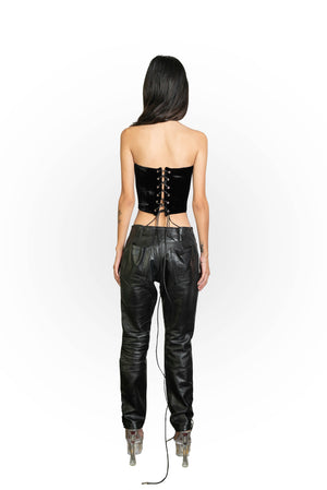 ALPHA CORSET IN BLACK VELVET