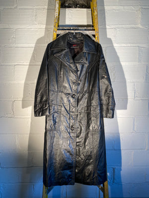 1/1 SMV LEATHER TRENCH COAT