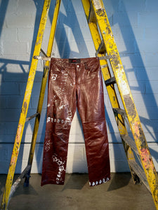 1/1 SMV PAINTED LEATHER PANTS