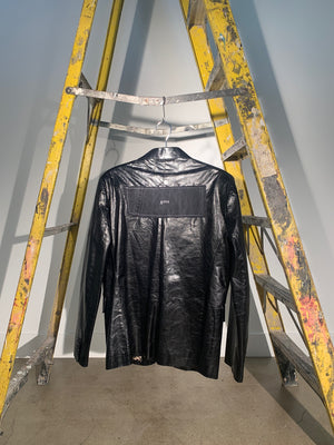 1/1 SMV SHINY LEATHER BLAZER