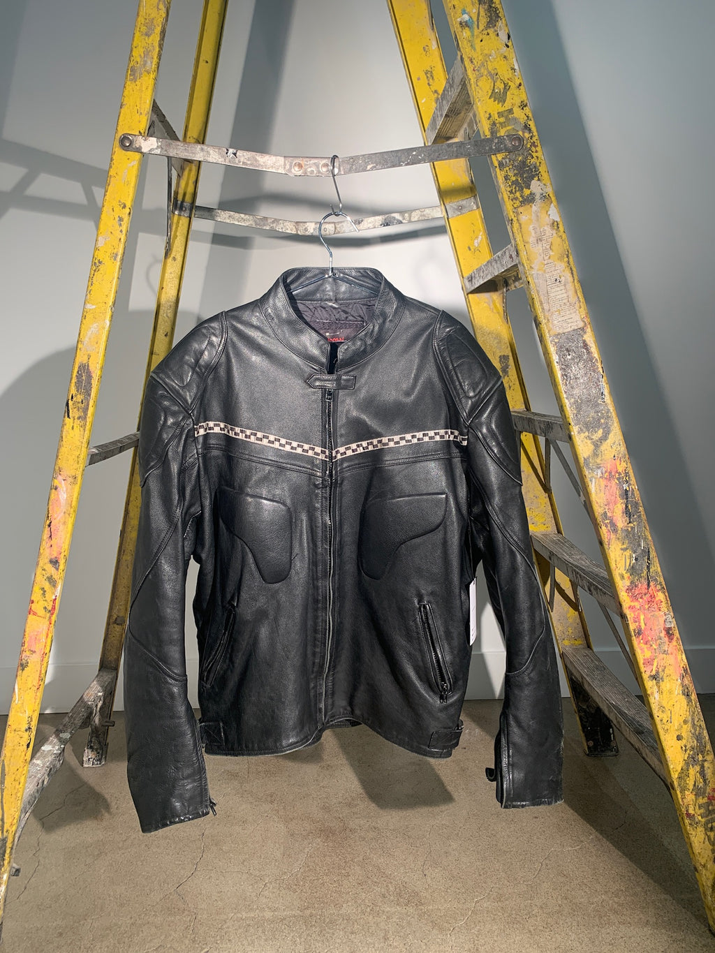 1/1 SMV LEATHER & CHECKERED MOTOCROSS JACKET