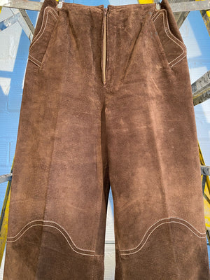 1/1 SMV SUEDE TROUSERS, BROWN
