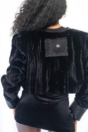 BOLERO JACKET IN BLACK VELVET