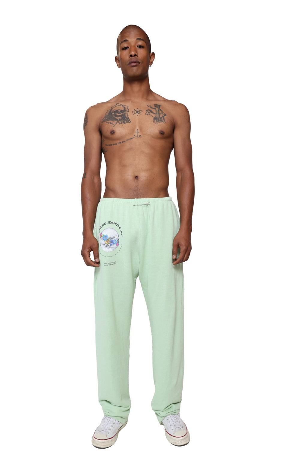 SAFETY PIN SWEATPANTS IN SEAFOAM