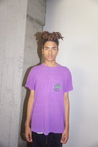 HOAX Pocket Tee in Purple