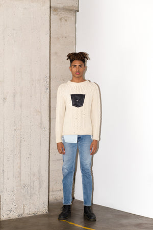 BRANZINO SWEATER LONG IN BLACK DENIM