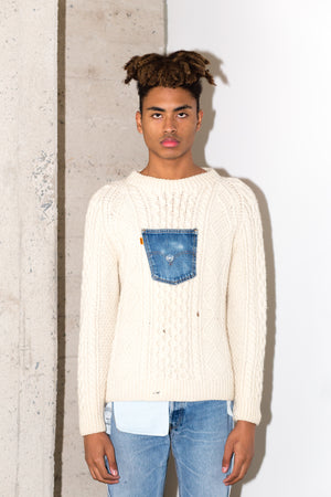BRANZINO SWEATER LONG IN BLUE DENIM