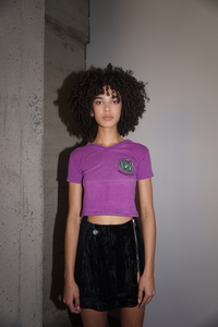 Mini HOAX Tee in Purple