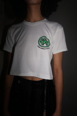 Mini HOAX Tee in White