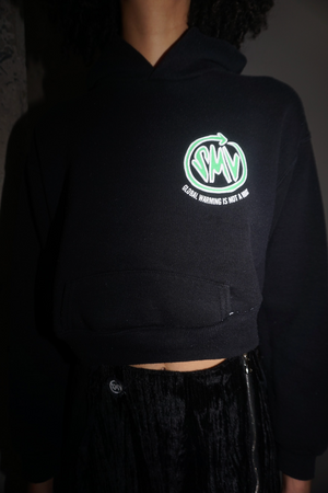 Mini HOAX Hoodie in Black
