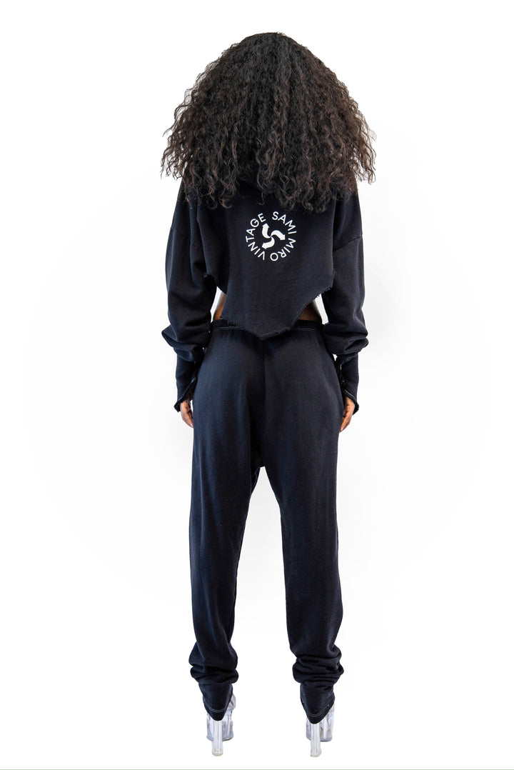 Sweatpamts in Black by Sami Miro, available on samimirovintage.com for $285 Kylie Jenner Pants Exact Product