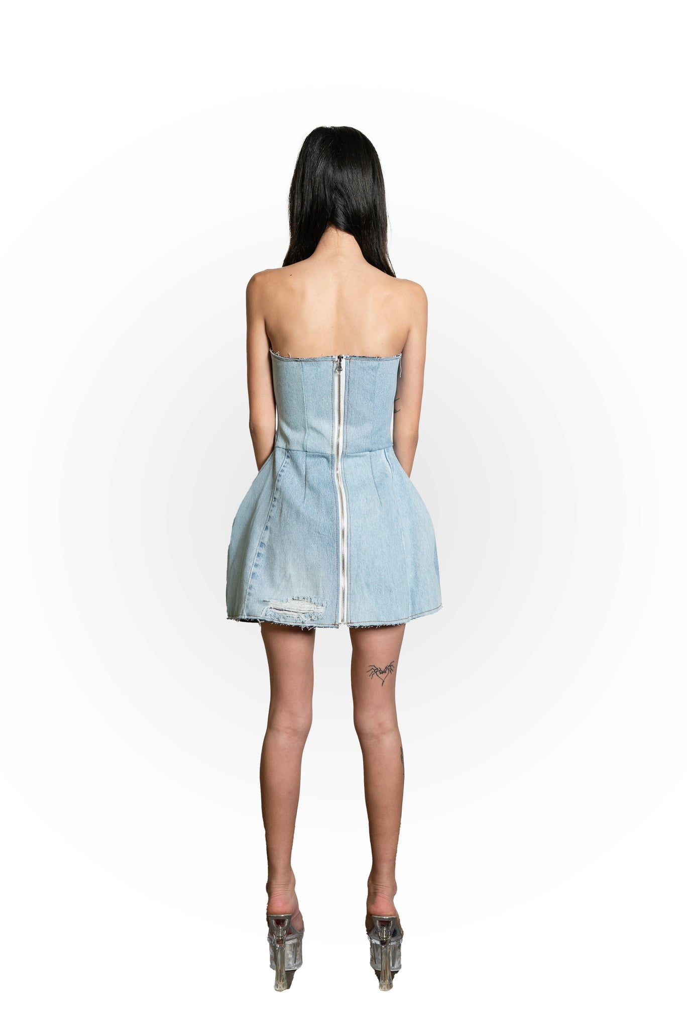 MAXIMILIAN DRESS IN VINTAGE DENIM