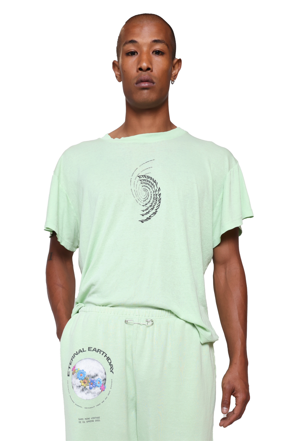 LOOSE TEE IN SEAFOAM