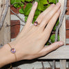 Charleston Pave Quartz Bracelet - Light Purple Gold