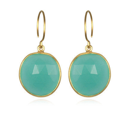 Cabo Gem Earring-Jade Gold