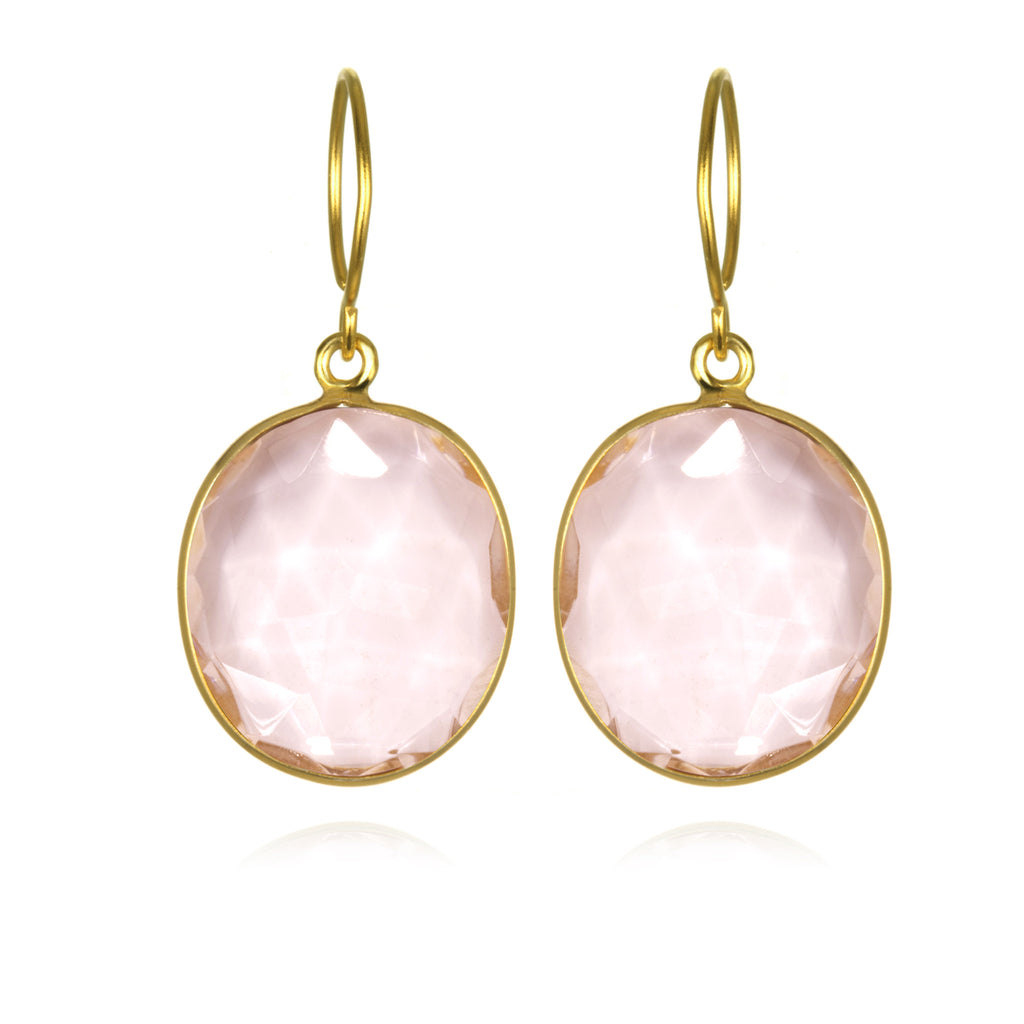 Cabo Gem Earring-Peony Pink Gold
