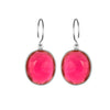 Cabo Gem Earring-Ruby Silver