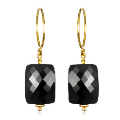 Black Spinel Sadie Earring Gold