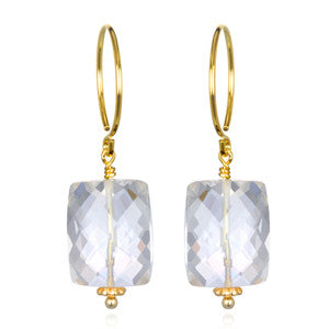 Clear Quartz Sadie Earring Gold