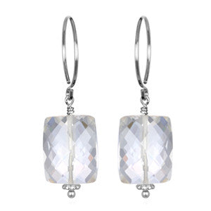 Clear Quartz Sadie Earring Silver
