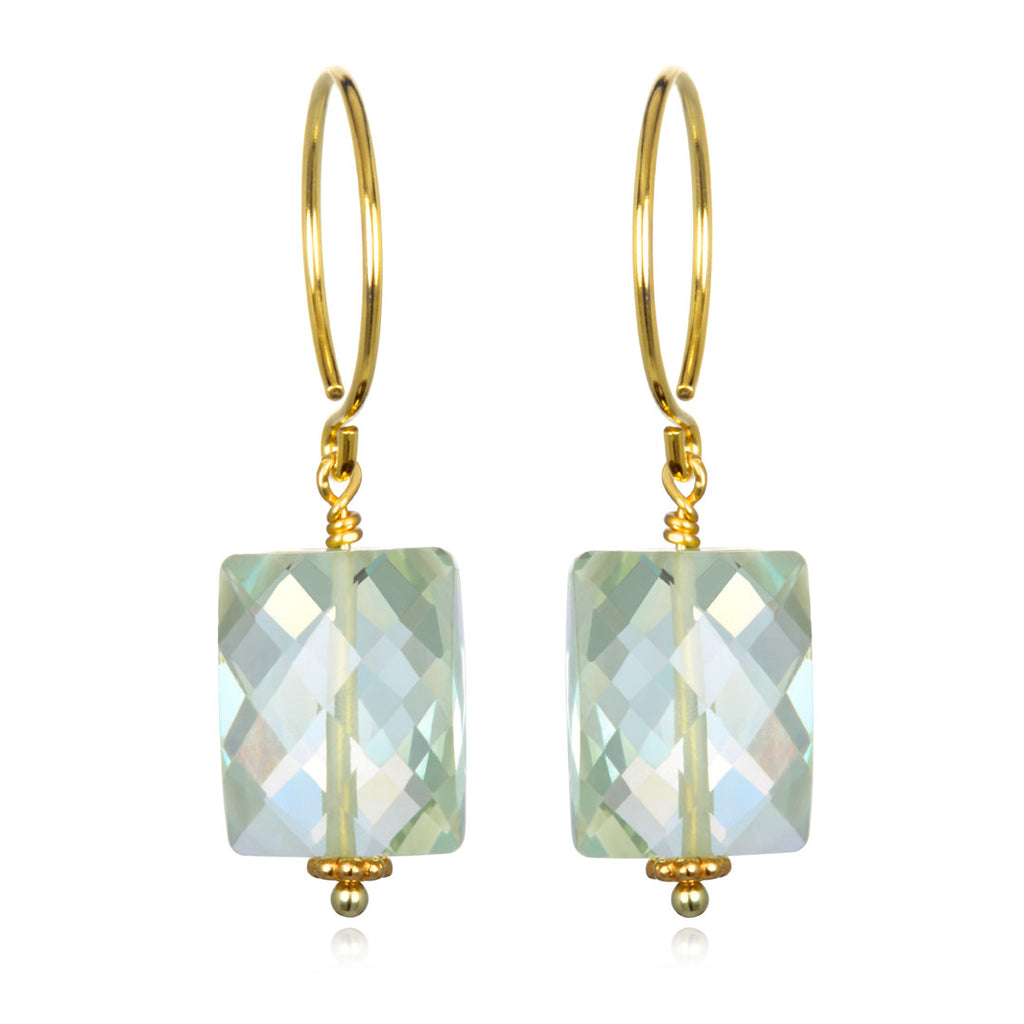 Green Amethyst Sadie Earring Gold