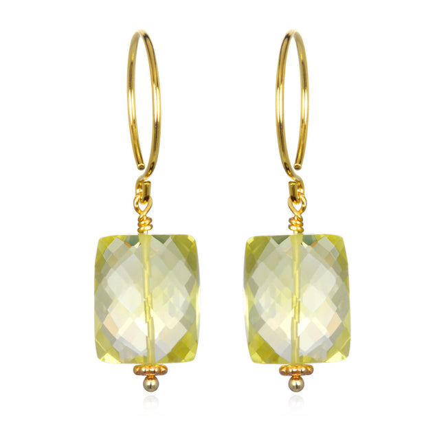 Lemon Quartz Sadie Earring Gold