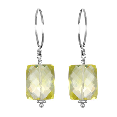 Lemon Quartz Sadie Earring Silver