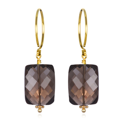 Smoky Quartz Sadie Earring Gold