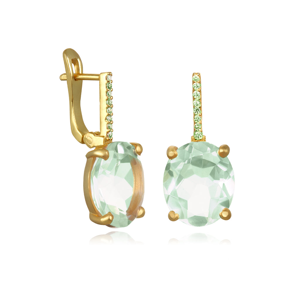 Charleston Earring - Light Green Gold