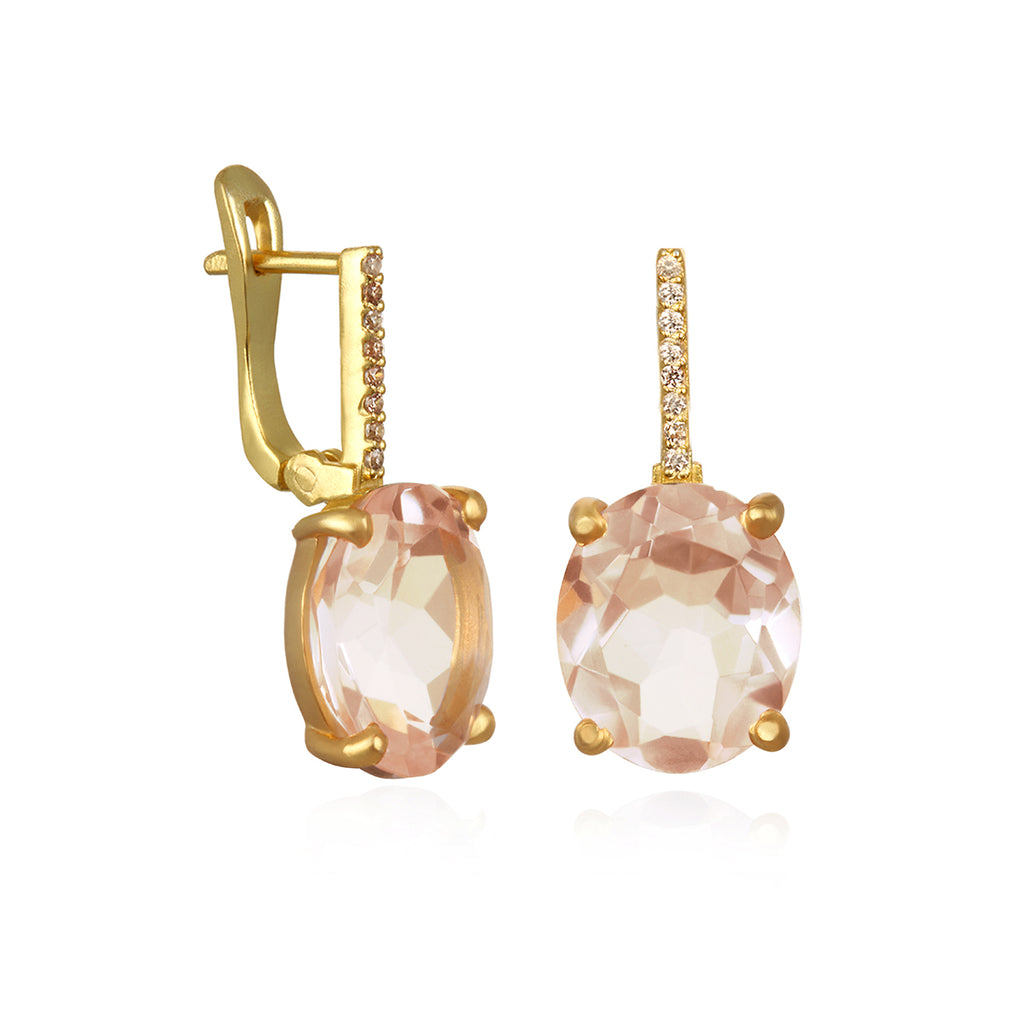 Charleston Earring - Peach Gold