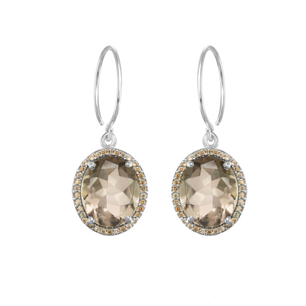 Charleston Pavé Quartz Earring