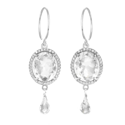 Charleston Gemdrop Earring - Clear Silver
