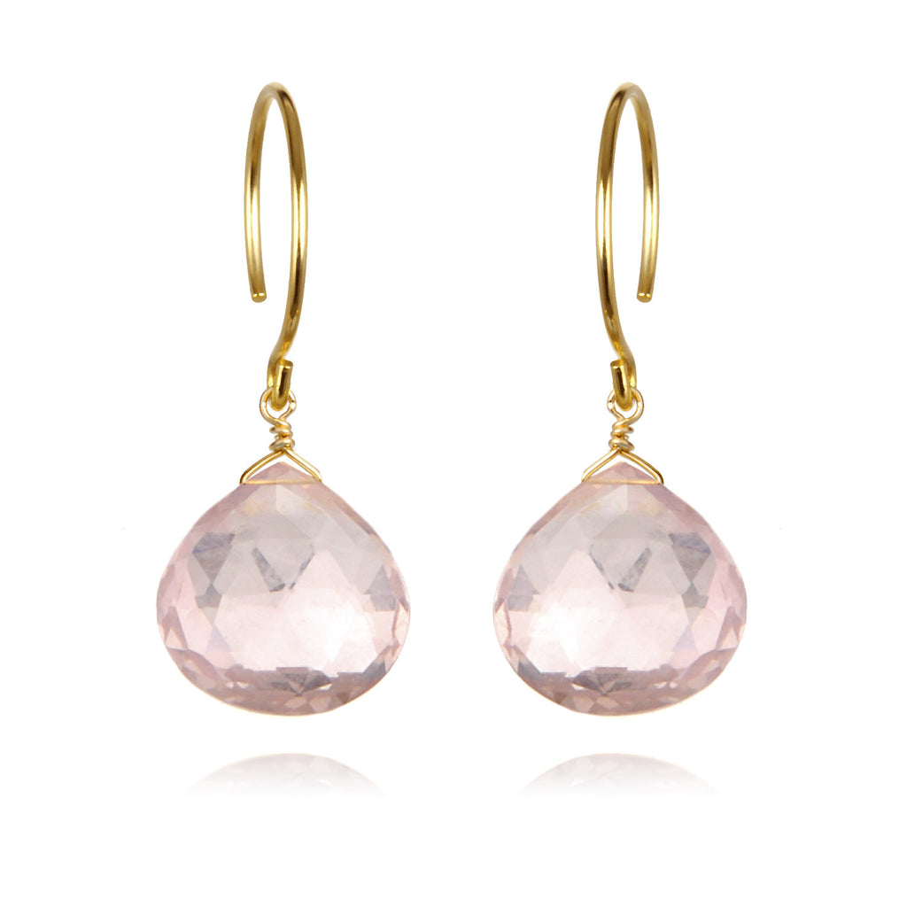 Catherine Earring-Rose Quartz