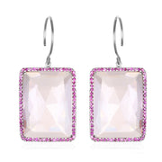 Paris Emerald Cut-Pink Silver