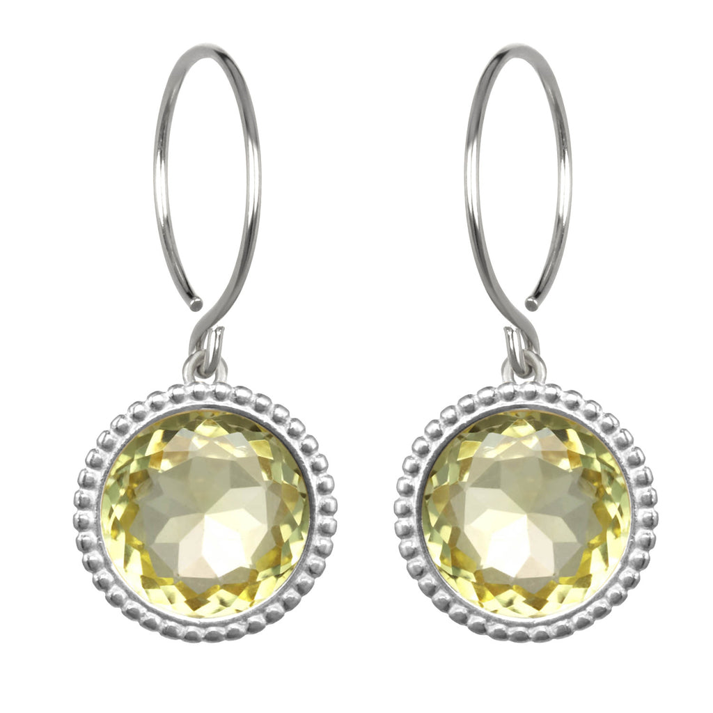 Daphne Earring-Lemon Quartz Silver