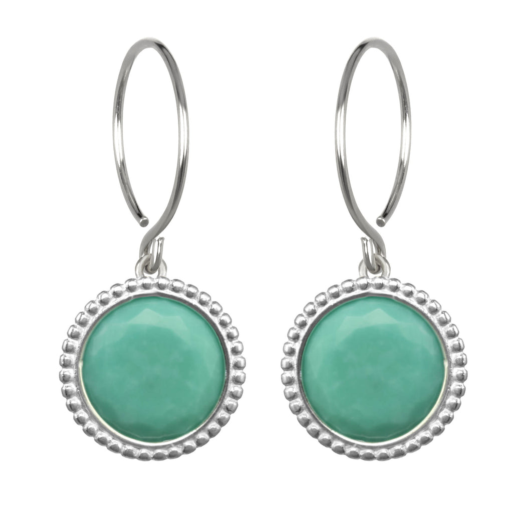Daphne Earring-Turquoise Silver