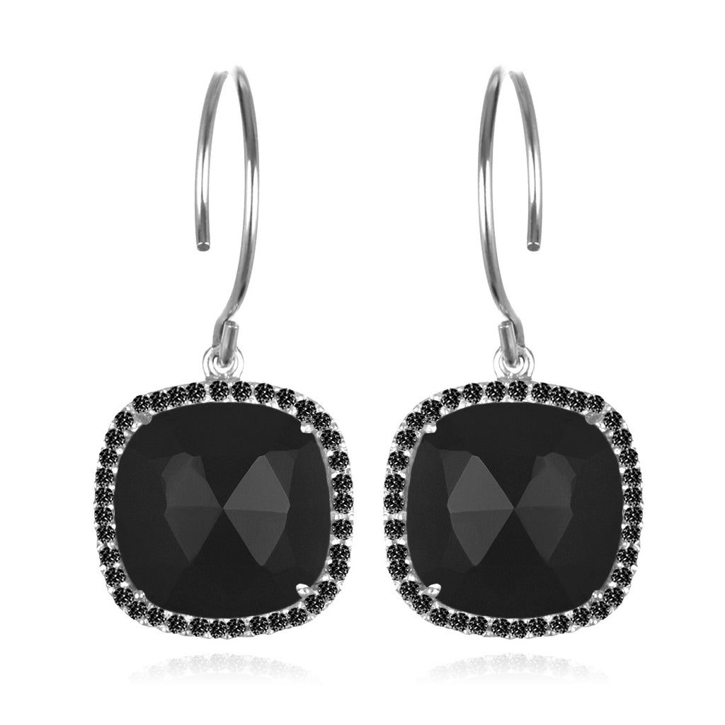 Paris Cushion Cut-Black Silver