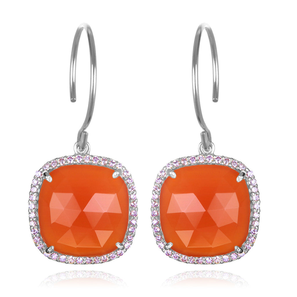 Paris Cushion Cut-Orange Silver
