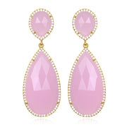 Paris Double Teardrop Earring - Pink Gold