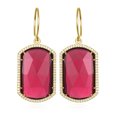 Paris Emerald Earring Ruby Gold