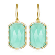 Paris Emerald Earring Seafoam Gold