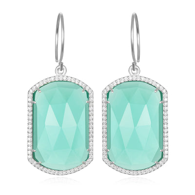 Paris Emerald Earring Seafoam Silver
