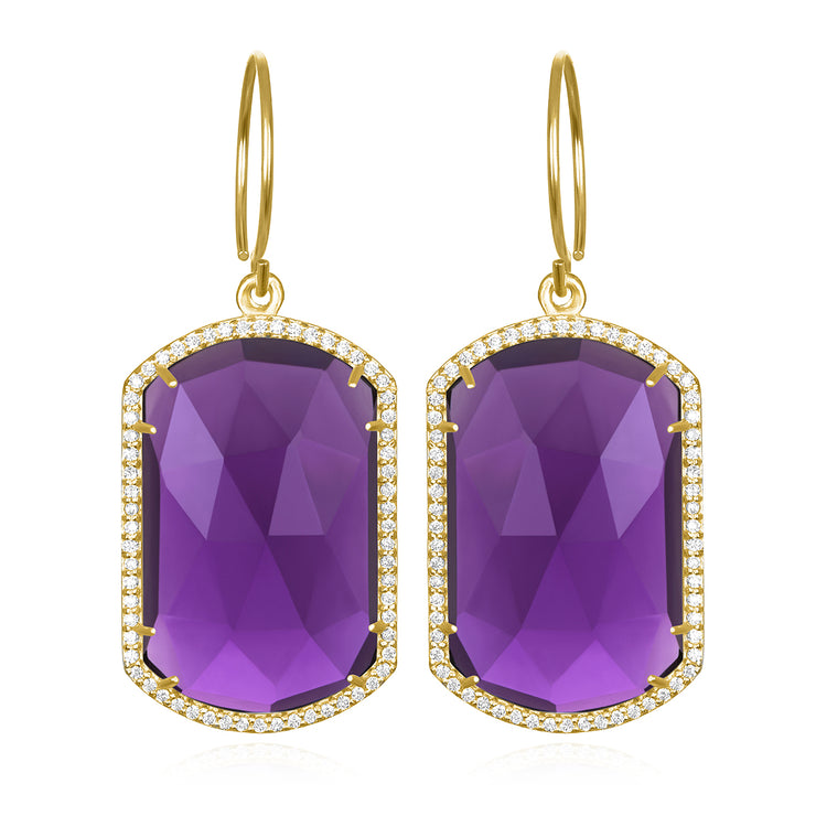 Paris Emerald Earring Violet Gold
