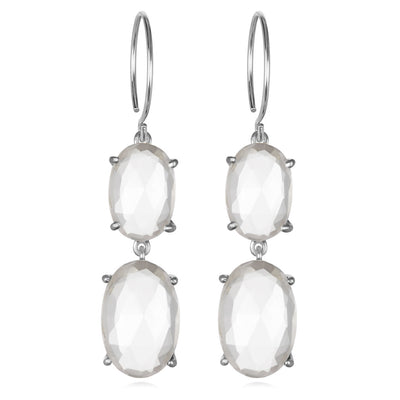 Catalina Double Oval Clear Silver