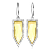 Paris Dagger Earring Citrine Silver